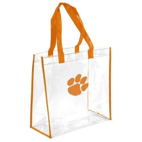 Team Beans Clemson University Clear Reusable Bag (Clear, Size ) - NCAA Licensed Product, NCAA Accessories at Academy Sports