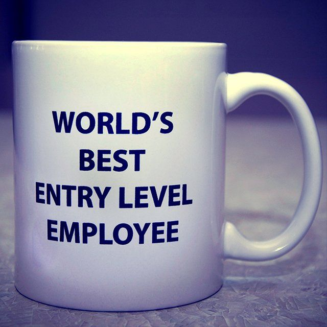 World's Best Entry Level Employee Mug - $17
