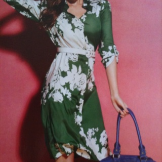 Wayne by Wayne Cooper noosa dress $149  love green and white floral pattern
