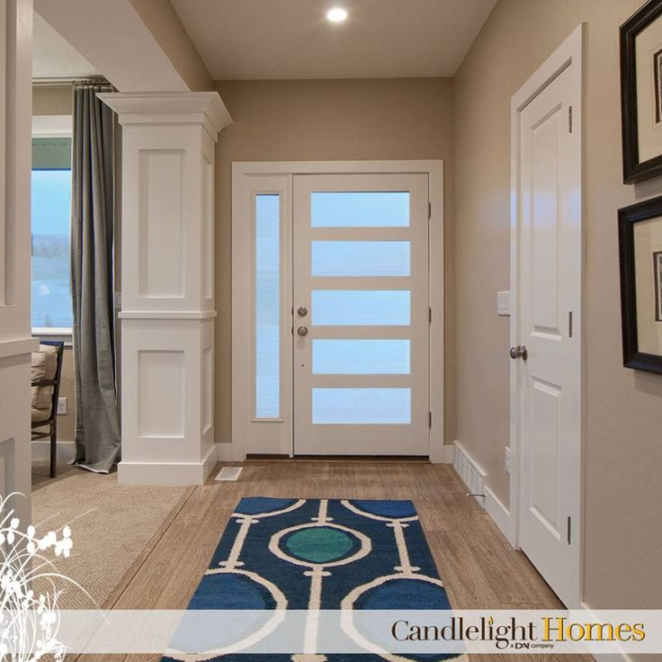Candlelight Homes, Front Entry, Door, Contemporary Door, Rug, Laminate  Flooring