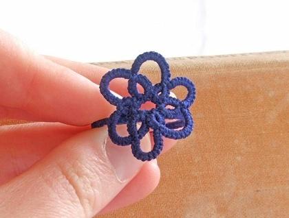 Royal blue flower lace ring  $35.00 www.ngaiorue.com  www.felt.co.nz/shop/ngaiorue