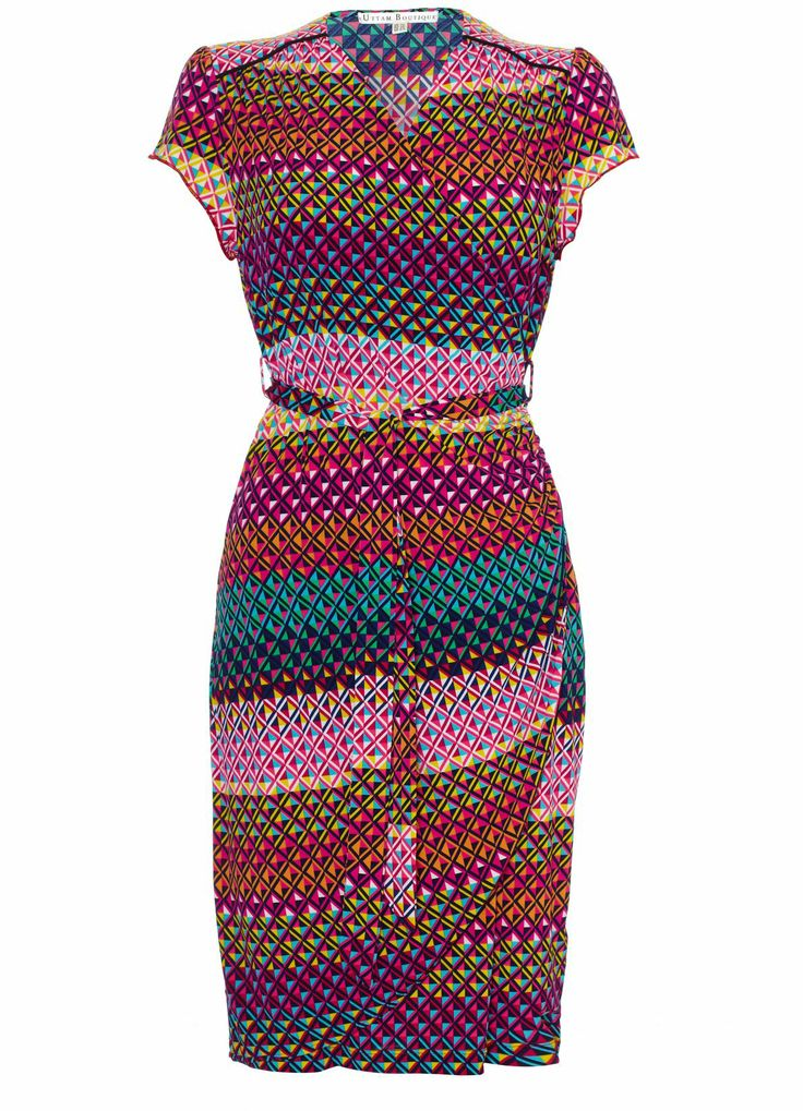 Mexicana Geo Print Wrap Dress