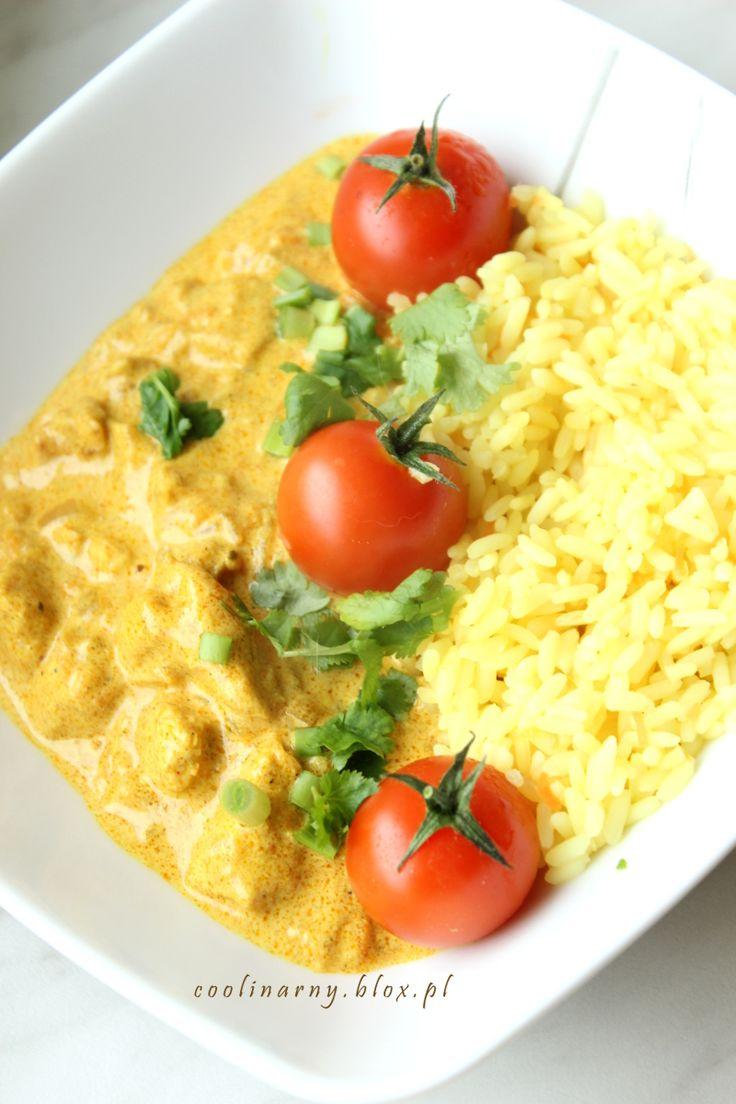Obiad w 30 minut - Ryż z kurczakiem w sosie śmietanowym z curry