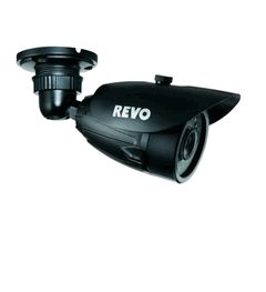 Revo #SecurityCamera is a powerful Infrared Illuminator bullet camera that uses a high sensitive 1/3 inch (1/4 inch) interline transfer Charge Coupled Device (CCD) image sensor, and all state circuitry, which provides extremely long life and high reliability.