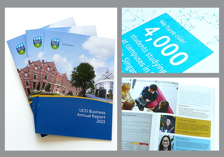 Annual report designed for #UCD Smurfit Business School. Making a small #annualreport attractive and interesting www.akgraphics.ie