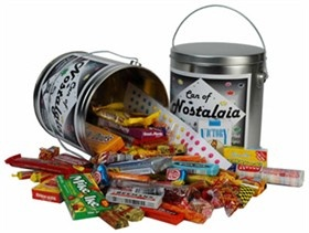 My #class reunion idea is to use a Can of #Nostalgic Candy and use them as #candy favors.  This would bring back sentimental #memories of the candy we ate as a kid. http://www.blaircandy.com/canofnocaga.html