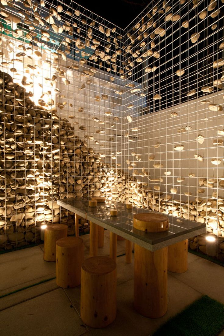 3d Wallpaper For House Walls Cafe Ato By Design Bono Gabion Wall Deconstructed