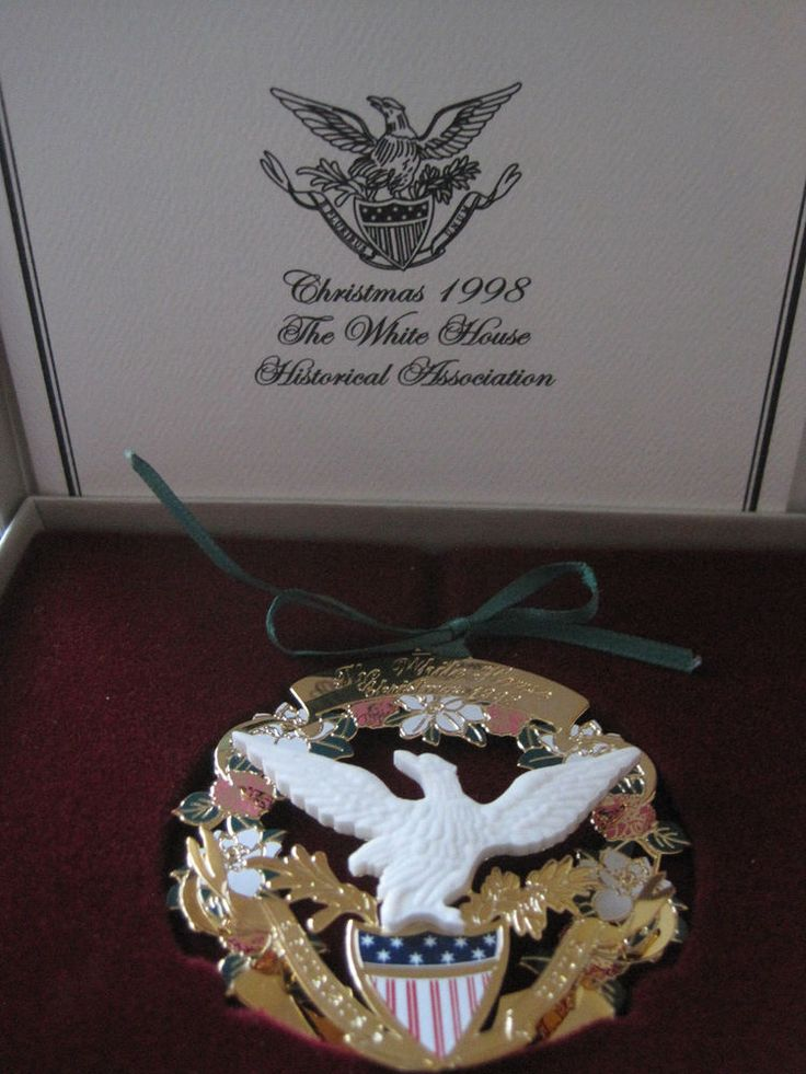 MINT Christmas 1998 The White House Historical Association Ornament w Papers USA #TheWhiteHouseHistoricalAssociation