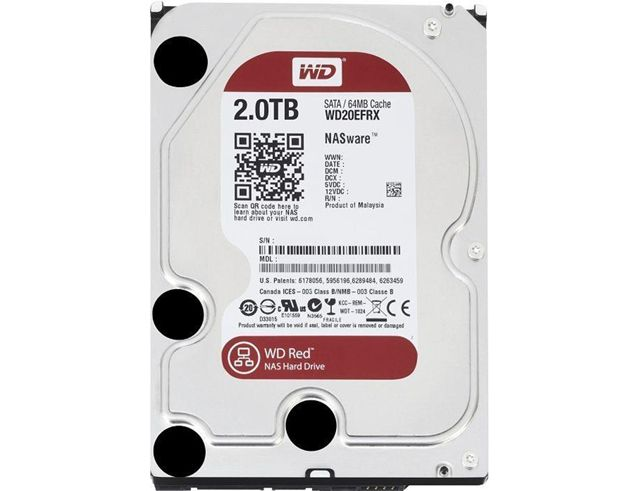 4x HDD WD SATA3 2TB 64MB RED WD20EFRX (99.00€)