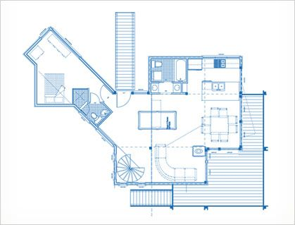 Shipping container house- Quebec - plan
