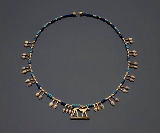 Nefer pendants and beads      Egyptian, New Kingdom, Dynasty 18, 1550–1295 B.C.
