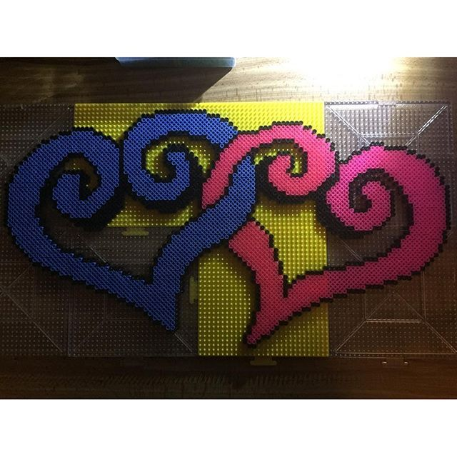 Hearts hama beads by  sunnyscraftzone