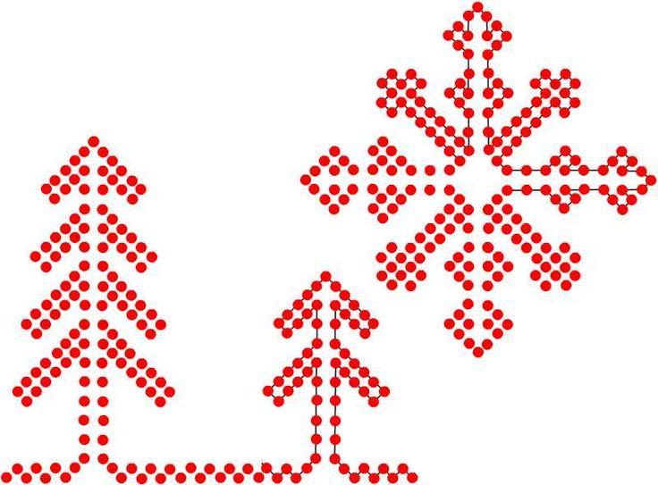 ricamo e... altro: Ricamo di Natale/2 schema punt'e nù