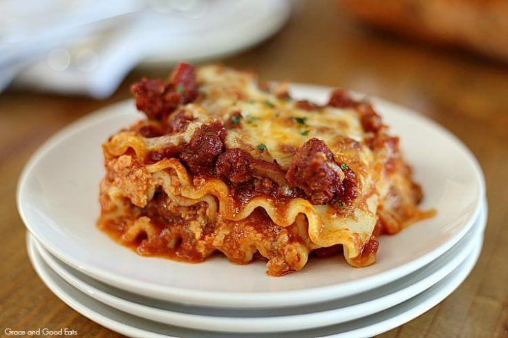 Creamy Lasagna Recipe Lasagna Recipe Without Ricotta Food Recipes Lasagna Without Ricotta Cheese