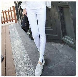 casual pants new autumn cotton women leggings Pencil pants lady panties Zipper Slim Trousers Skinny