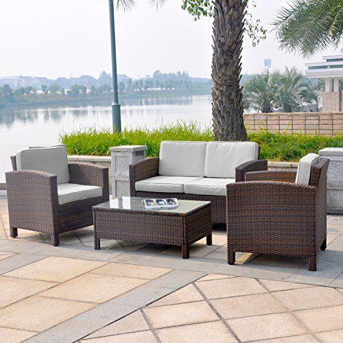 die besten 25+ polyrattan sofa ideen auf pinterest | rattan ... - Gartenmobel Set Rund
