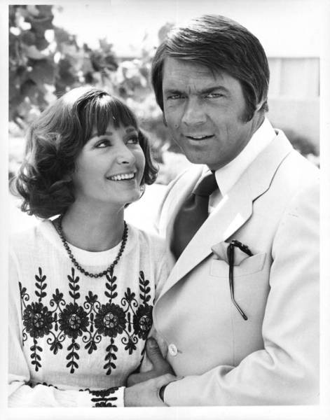 """Although Chad Everett had a range of TV and movie roles over a career that began in the early 1960s, he made a lasting impression as Dr. Gannon on """"Medical Center."""" Above, Everett is shown his wife, actress Shelby Grant, in 1975."""