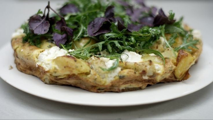 Recept frittata met bloemkool, spinazie en feta