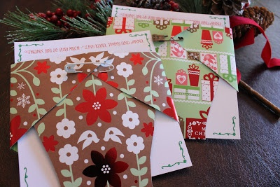 Christmas baby shower thank you notes