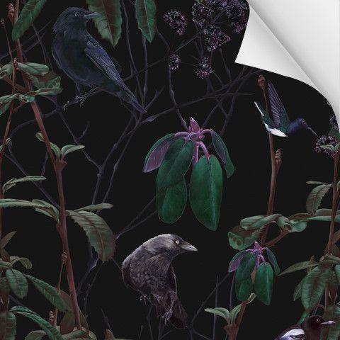 Folia Dark Wallpaper SAMPLE