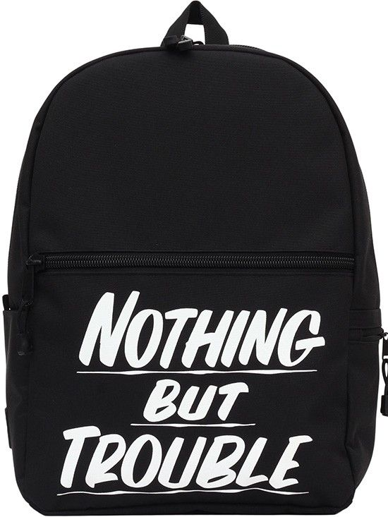"""Nothing But Trouble"" Backpack by Baron Von Fancy X Mojo Backpacks (Black) #backpack #bookbag #black #trouble #inkedshop #bag"