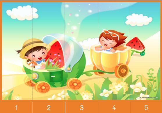 12 Puzzles numériques 1 à 5 - Le jardin d'Alysse