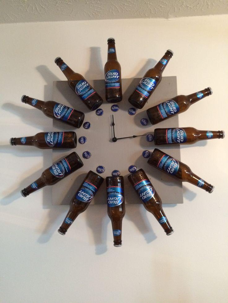 Bud Light Beer Bottle Clock