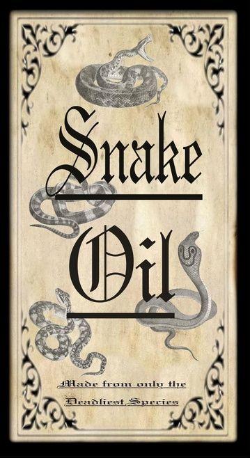 """""""Snake Oil"""" #BottleLabel #Halloween"""