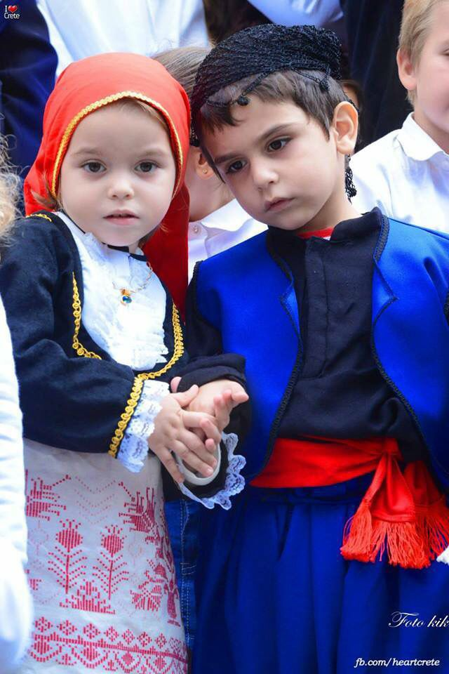 Greek children in costume