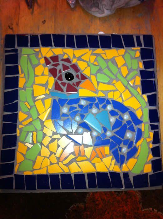 stoeptegel mozaiek bij Expres-zo creatieve workshops