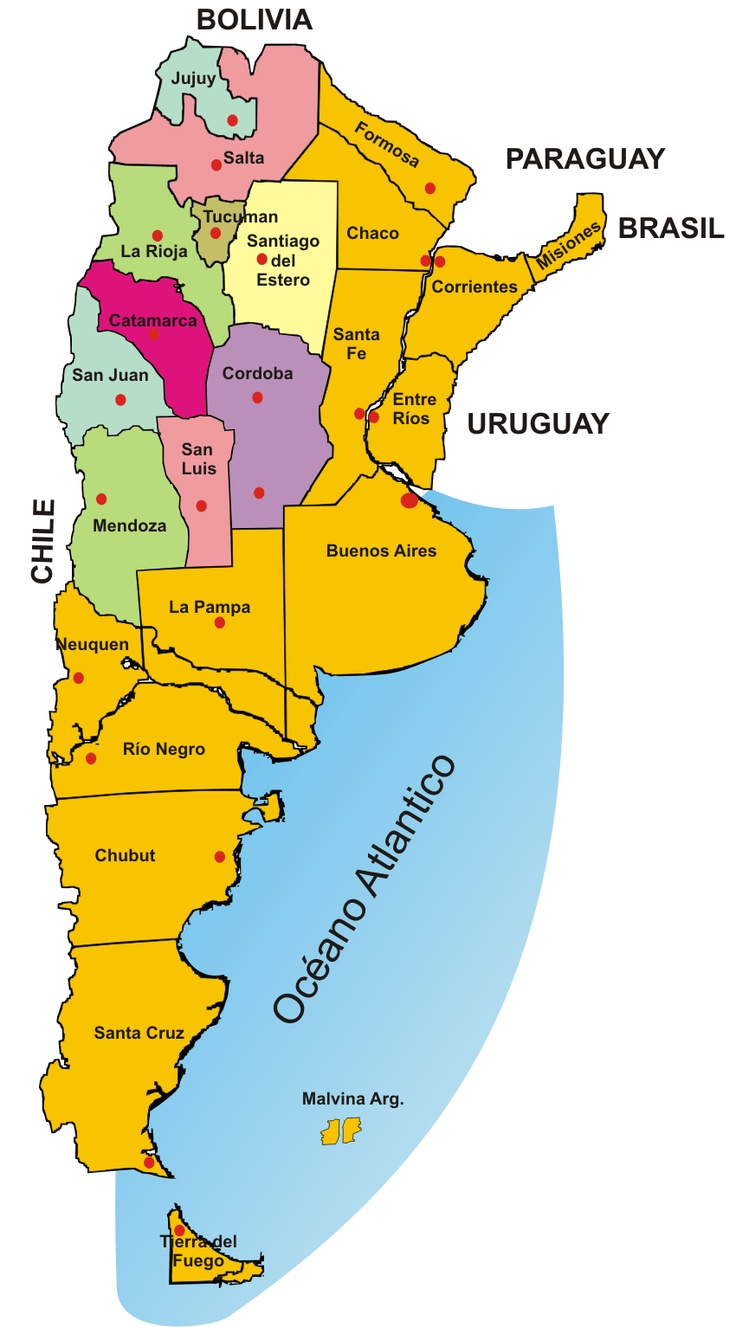 Más De Ideas Increíbles Sobre Mapa De Argentina En Pinterest - Argentina mapa