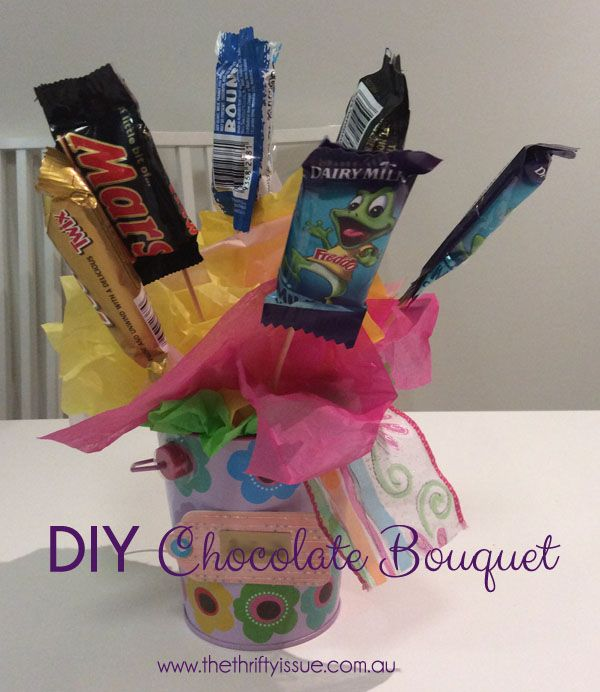 Have you ever seen the chocolate bouquet pots and thought they looked wonderful but didn't want to pay the advertised price? Well for the cost of the chocolates and a few things most people have at home you can create your own. What you need: Chocolates Skewers Tape Styrofoam ball Tissue paper Bucket or jar ... [Read more...]