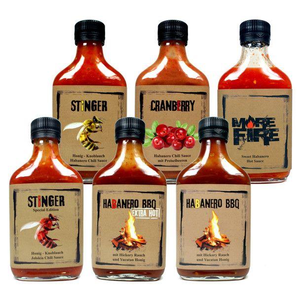 Mixed Box Habanero Sauces. More hot, hot hot #packagiing PD