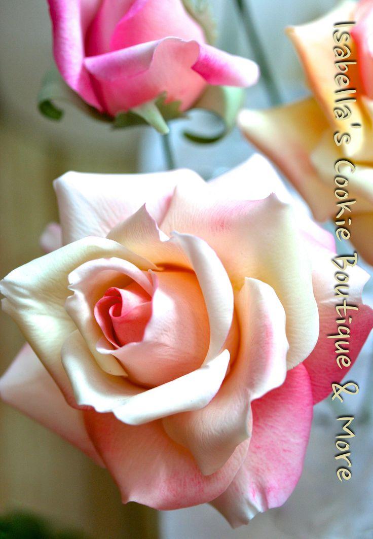 Gum Paste Roses  Gum Paste Flowers  Fondant Flowers, Gum -6845