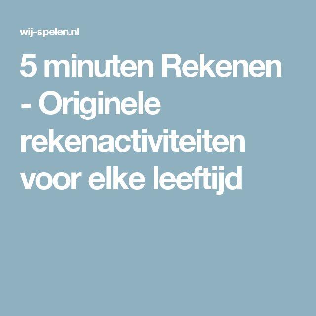 5 minuten Rekenen - Originele rekenactiviteiten voor elke leeftijd