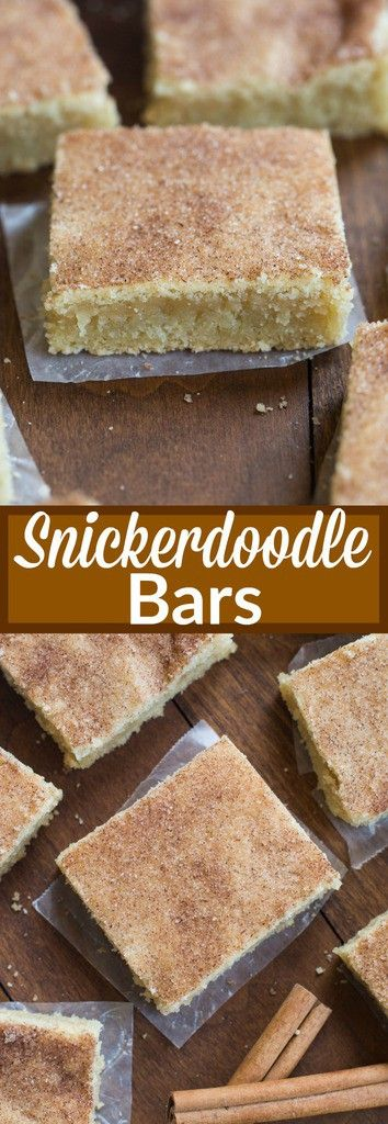 My favorite cookie recipe transformed into the BEST super soft and chewy snickerdoodle bars! No rolling or chilling the dough. These couldn't be easier to make.   tastesbetterfromscratch.com