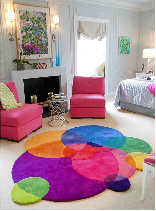 Bubbles Luxury Designer Rug With