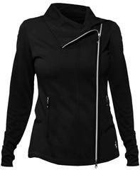 Jofit Lifestyle Golf Jet Set Jacket in Black - Mrs Golf - Ladies Golf Apparel, Shoes, Accessories - #mrsgolf