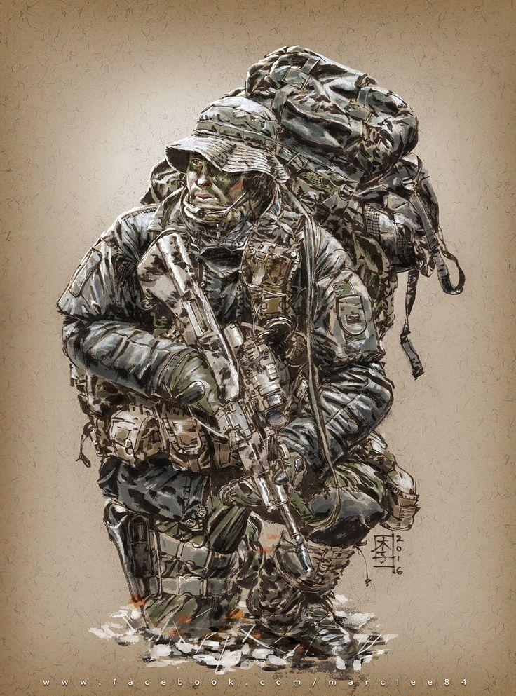 Jagdkommando, Marc Lee on ArtStation at https://www.artstation.com/artwork/zkoPd