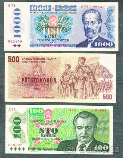 Staré bankovky - 1973-1989 - 3 kusy pěkné - 1