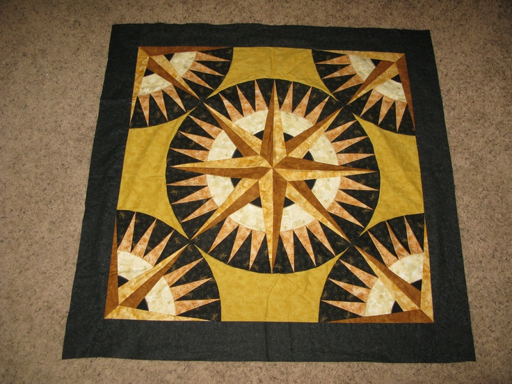 Quilting Patterns Mariner S Compass : 17 Best images about MARINERS COMPASS QUILTS on Pinterest Green, Mariners compass and Quilting ...