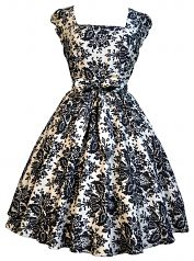 Potential bridesmaid dress, maybe not the pattern, but love the cut of this dress. from lady v london