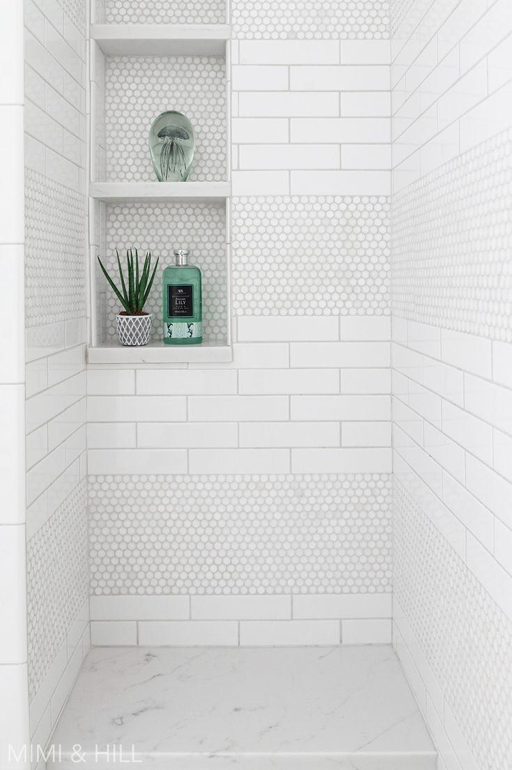 Bathroom Shower Subway Penny Tile Penny Tiles Bathroom
