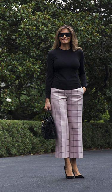 Pantaloni a culotte con décolleté