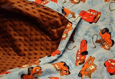 2paws Designs: Cars Blanket