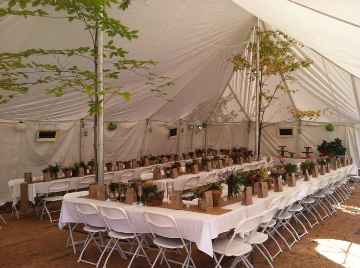 Rainingblossoms Wedding Receptions Tents Decoration: Beautiful Autumn Wedding Tent Setup