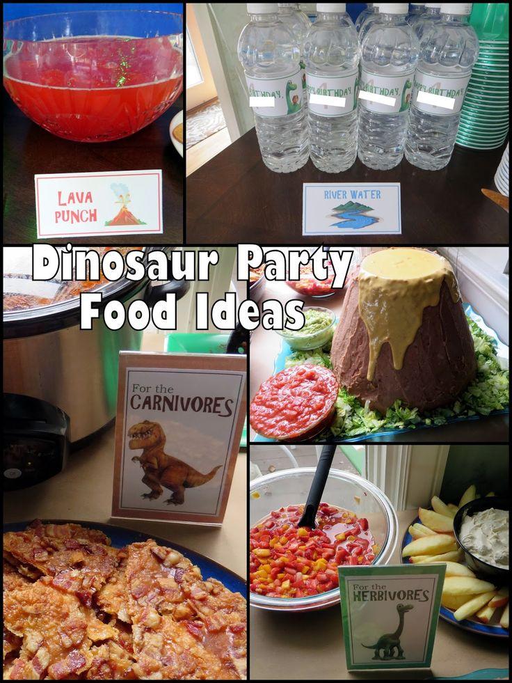 The Good Dinosaur Birthday Party! Food ideas for dinosaur parties!