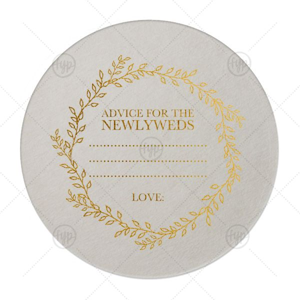"""Newlywed Advice Coaster 