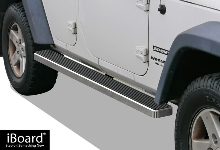 iBoard Running Boards (Nerf Bars | Side Steps | Step Bars) For 2007-2017 Jeep Wrangler Sport Utility 4-Door | (Silver 5 inches)