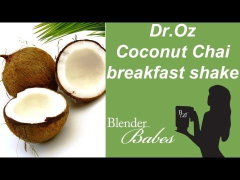 Dr Oz Coconut Chai Breakfast Smoothie made in a Vitamix or Blendtec commercial blender